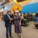 Ноу-хау внедрил резидент ТОСЭР «Череповец» - разработал установку для быстрой покраски деталей машин